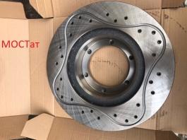 Диск тормозной на Газель ГАЗ-3302 SPORT вентиляция перфорация