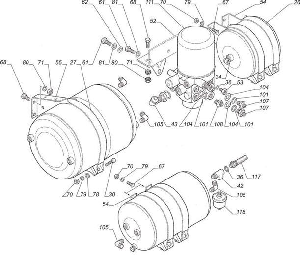 Установка привода тормозной системы